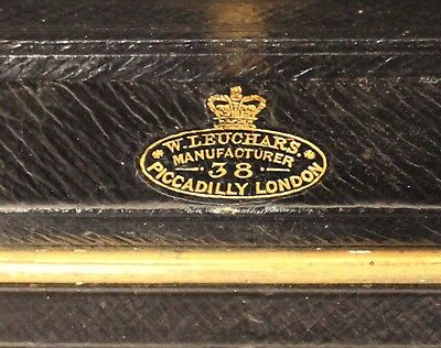 19th Century Leather Writing Box by W Leuchars 38 Piccadilly London 4