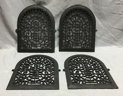 One Antique Arched Top Heat Grate Grill Stars Flowers Pattern Arch 11X14 635-18C 9