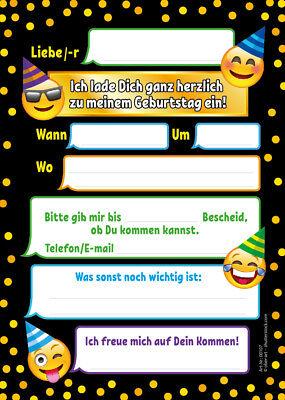 Einladungskarten Einladungen 10 Geburtstag zehnte Kindergeburtstag Mädchen Junge 2