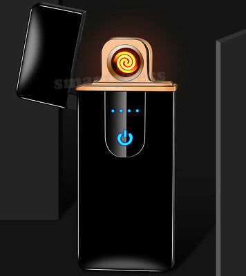 Windproof Electric Cigarette Lighter Touch Sensitive USB Rechargeable Flameless 4