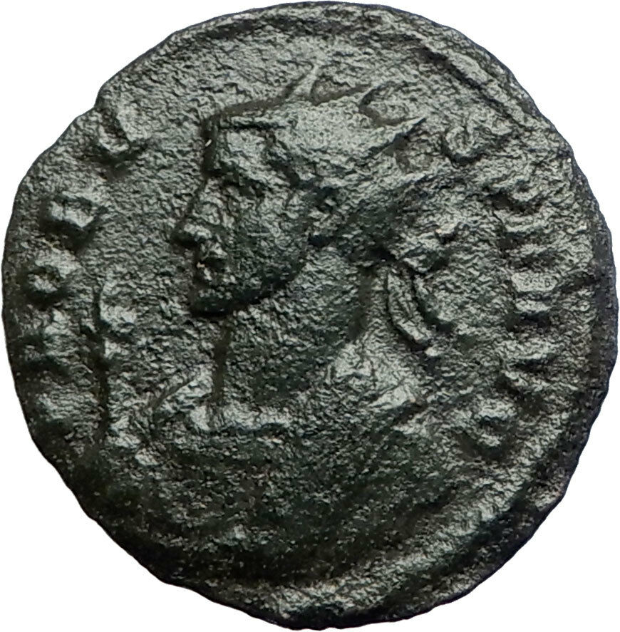 PROBUS  281AD Rome Authentic Ancient  Roman Coin Temple of Roma   i74247 2