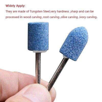 10pcs Ceramic Stone Polishing Grinding Dremel Rotary Die Grinder Drill Bit Tool 3