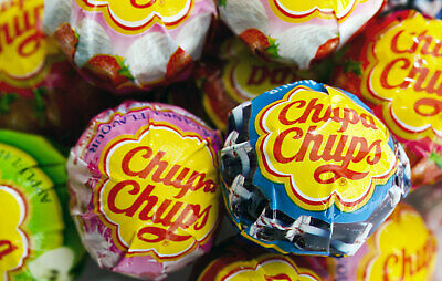 NEW Chupa Chups 100 Lollipops Bulk Lollies Jar Assorted Flavours FREE POSTAGE 2