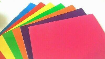 Self adhesive vinyl sticky back 7 sheets A4 RAINBOW COLOURS BUY 2 GET 3RD FREE 2
