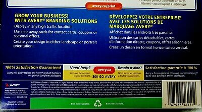 Avery Tear-Away Card Flyers - Mate White AVE16151 -  5 Flyers 120 Cards Ink-Jet 10