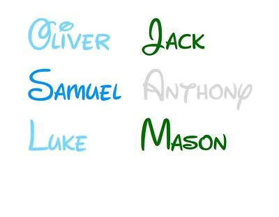 Kids Personalised Sticker Name Word Label Water Drink Bottle Frozen Font Decal