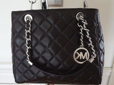 babe070c8c ... NWT Michael Kors Susannah Small North South Tote Quilted Leather Black   328+tax 4