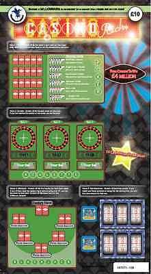 Fake Joke Lottery Scratch Cards Tickets £100,000 + £250,000 Best On Ebay!!! 3