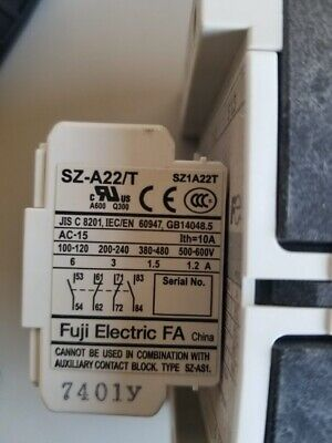 FUJI ELECTRIC CONTACTOR SC-E4/G with SZ-A22/T and SZ-Z36 Modules Attachments 5