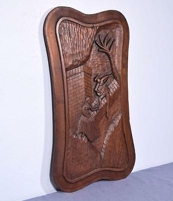 *Large French Deeply Carved Architectural Panel Solid Mahogany Romantic Theme 2