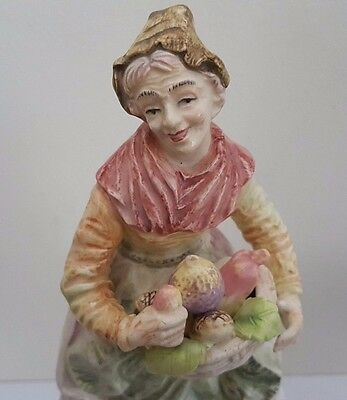 Antique European Bisque Porcelain Fruit Seller Figurine / Statue 5