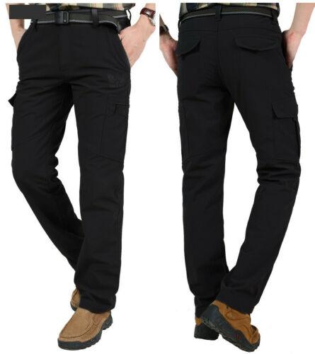 Men's Thermal Winter Pants Fleece Lined Elasticated Work Cargo Combat Trousers 11