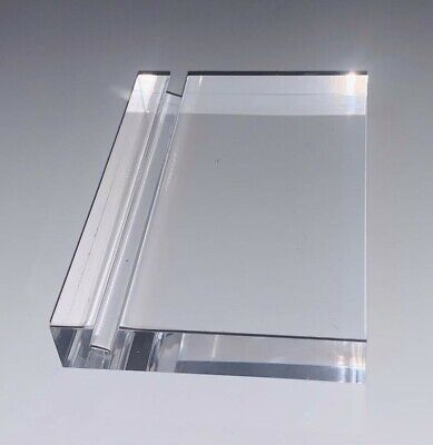 Acrylic Paperweight and Business Card Holder 2