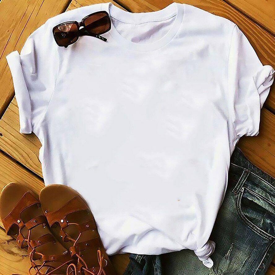 Femme T-shirt vêtements pour femmes T-shirt drôle été nouveau blanc décontracté 2