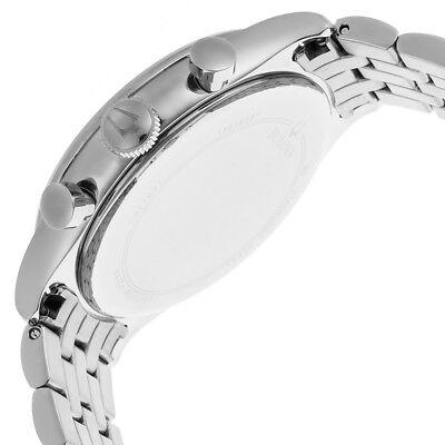 Bulova Women's Quartz Chronograph Black Dial Silver-Tone 43mm Watch 96B234 3
