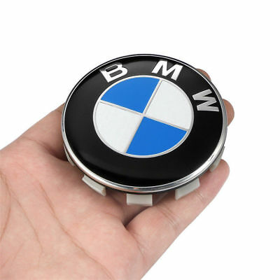 4Pcs Genuine BMW Emblem Logo Badge Hub Wheel Rim Center Cap 68mm Set of 4 Cover 2