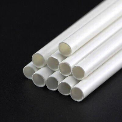 White ABS Styrene Plastic Strip Tube Round Bar Rods Square Bar Rod 250mm Length 3