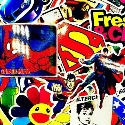 Stickers 100 Skateboard Laptop Decals Luggage Dope Sticker Random Christmas Gift 5