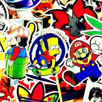 Stickers 100 Skateboard Laptop Decals Luggage Dope Sticker Random Christmas Gift 8