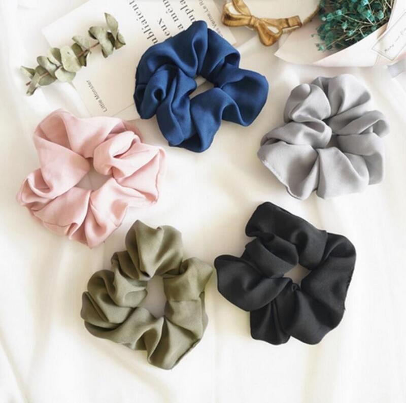 Trendy Lady Hair Scrunchie Ring Elastic Solid Bobble Sports Dance Hair Holder 2