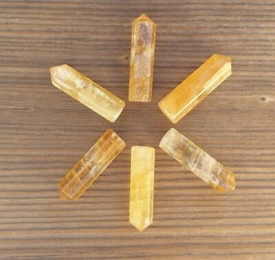 Natural Citrine Single Terminated Gemstone Crystal Pencil Point (One) 2