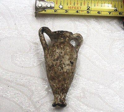 Unique Ancient Roman Bronze Sealed Amphora with Handles 1st-2nd c. AD 70 x 40 mm 3