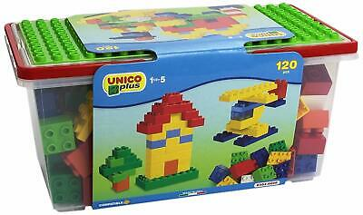 120x Mattoncini di costruzione, Cestino per mattoni da gioco, Ideale per bambini 4