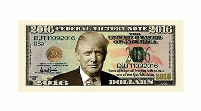 Pack of 10 - Donald Trump 2016 Federal Victory Presidential Dollar Bills 2