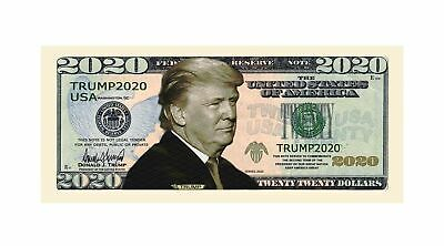 Pack of 25 - Donald Trump 2020 Re-Election Presidential Novelty Dollar Bills 2
