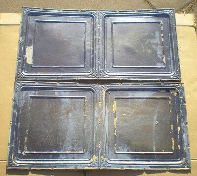 Antique Iridescent Ceiling Tin Tile Carnival Canvas Elegant Fleur De Li Frame 7