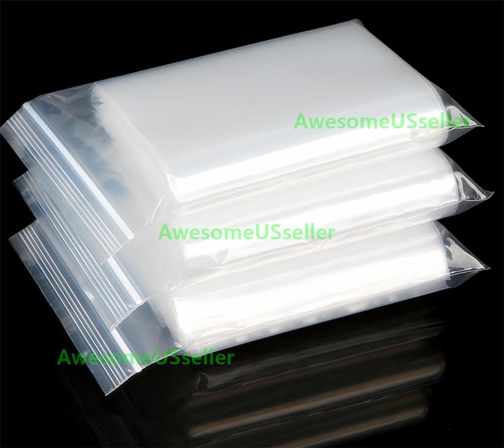 Clear 4Mil Ziplock Bags HEAVY-DUTY Reclosable Zip Lock Plastic Zipper Poly Small 7