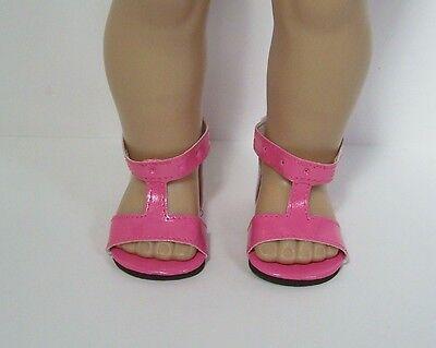 "DK PINK T-Strap Tstrap Doll SHOES /& Knee SOCKS For 18/"" American Girl Debs"