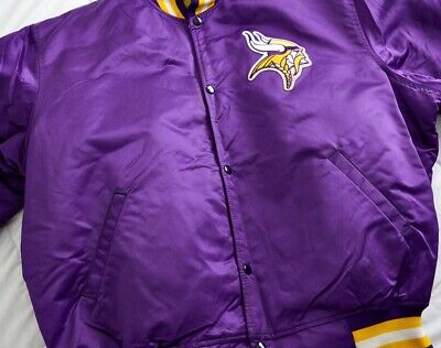 buy popular 3b3ac 5d4d7 1980S MINNESOTA VIKINGS Starter Jacket XXL Vintage Authentic NFL Proline  Coat