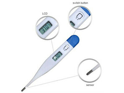 Digital LCD Body Thermometer Baby Adult Kids Safe Ear Mouth Temperature UK Post 2