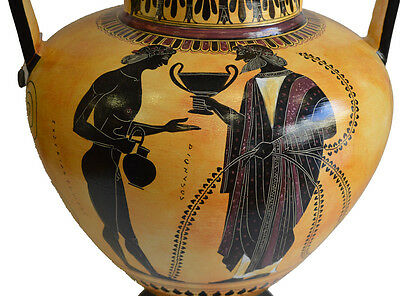 Achilles and Penthesileia - Ancient Greek Amphora Vase- British Museum Replica 4