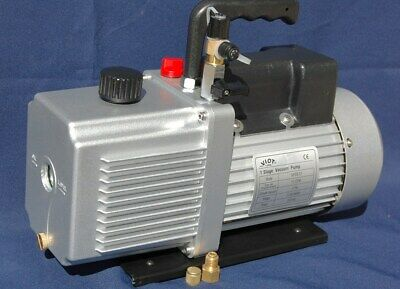 "Rotary Vane Vacuum Pump 12CFM 3/4HP 29""Hg HVAC Milker Machine Hookup+Check Valve 3"