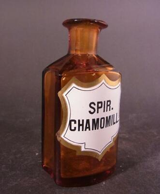 Apothekenflasche SPIR. CHAMOMILL., um 1900. 2