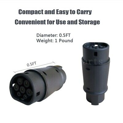 Electric Vehicle Car Charger SAE J1772 32A 240V Connector Socket Charging Plug 3
