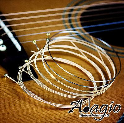 Adagio Pro ACOUSTIC GUITAR Strings Set Extra Light 10-47 Phosphor Bronze Pack 2