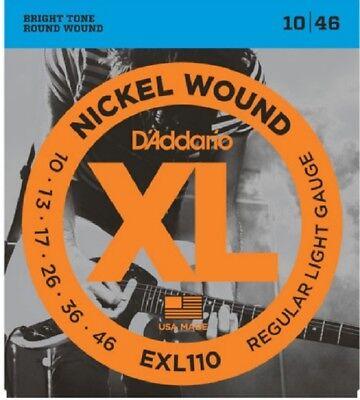 D'Addario EXL110 Electric Guitar Strings 10-46 Light sets