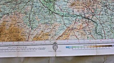 1910-1941 Antique Bartholomew's half inch map - GB sheet 23 N. Shropshire 4