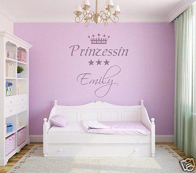 Wandtattoos Wandbilder Wandtattoo Kinderzimmer Madchen Krone Spruche Konigreich Prinzessin Mit Name A71 Pgm Com Pe