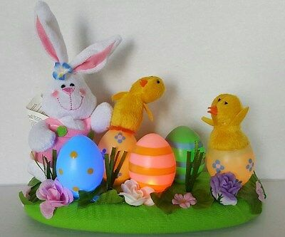 Avon Light Up Easter Bunny, Chicks, and Colored Eggs Centerpiece 2