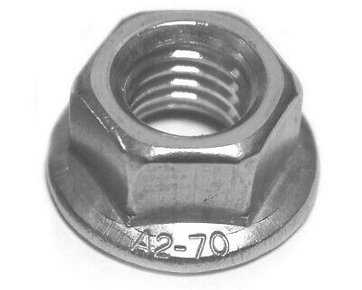 - M4 DIN 6923 Edelstahl A2 - Flanschmuttern Bundmuttern D/´s Items/® Sechskantmuttern mit Flansch und Sperrverzahnung V2A Sperrzahnmuttern 20 St/ück