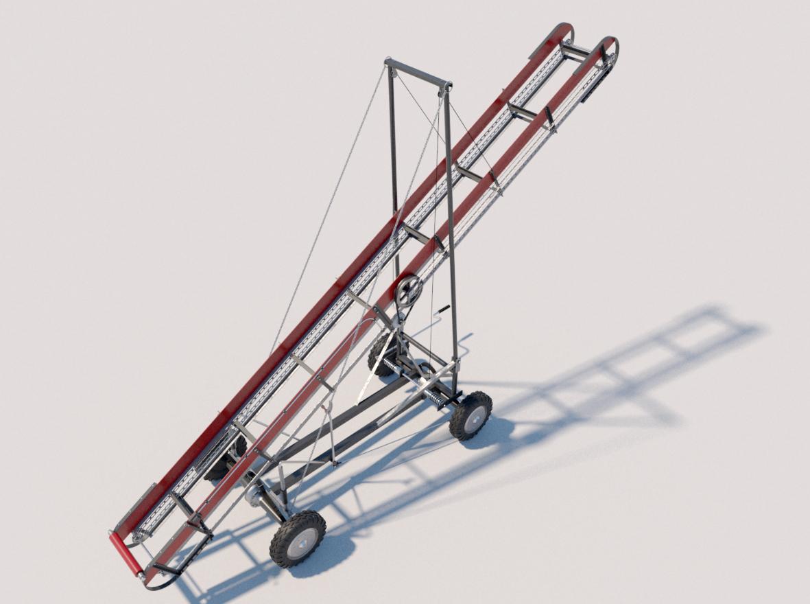 Hay Bale Conveyor System Plans DIY Firewood Elevator Electric Motor Drive 2