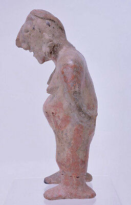 "Large Fine Pre-Columbian Pottery Figure  9 1/2"" x 5"" x 3"" 7"