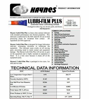 3 Lge Haynes Lubri-Film Plus Food Grade Grease Lubricant - Daily Dispatch Aust 3