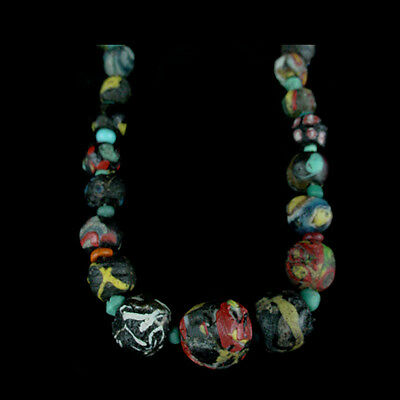 "A Roman to Islamic ""Gabri"" glass bead necklace. x8912 2"