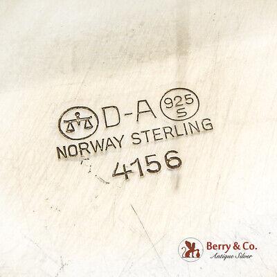 David Andersen Blue Guilloche Enamel Dish Plate Gilt Sterling Silver Norway 4
