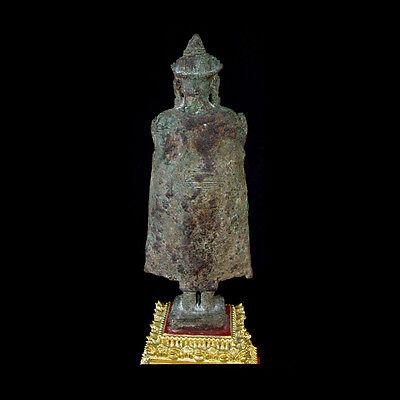 A Khmer Angkor style bronze figure of Buddha x7969 3
